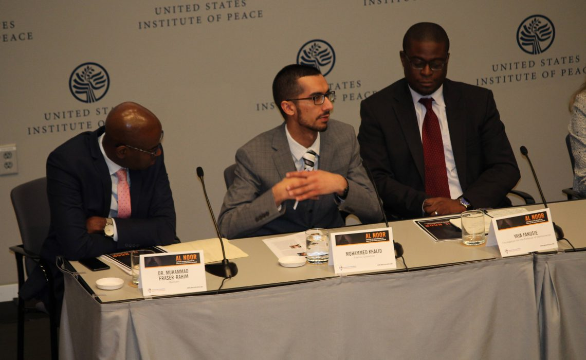 Speaking at the United States Institute of Peace for AMATE Symposium