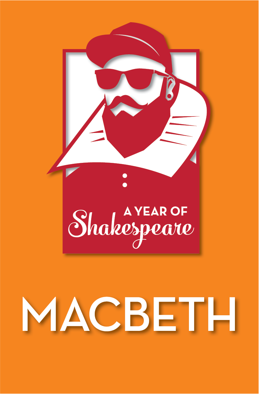 a year of shakespeare orange poster